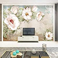 Xueshao 写真壁壁画シンプルな油絵花壁リビングルームテレビの背景壁紙の装飾ホーム3Dフレスコ-400X280Cm