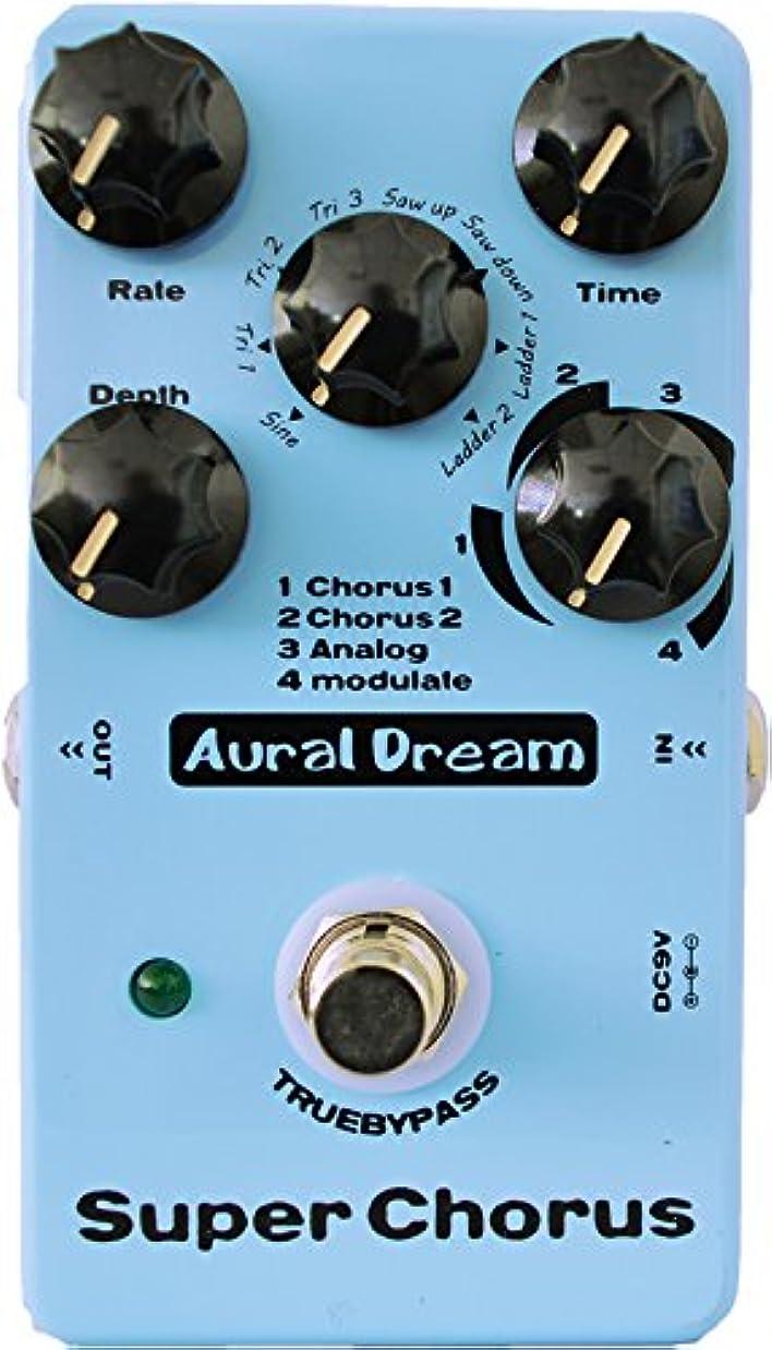 振るヒール感謝Aural Dream Super Chorus ギターの効果 また、4パターン8波形32の合唱効果、 本当にバイパス