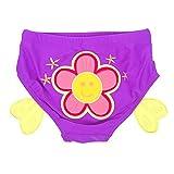 赤ちゃんの水泳トランク漫画再利用可能な水泳おむつ、花 L