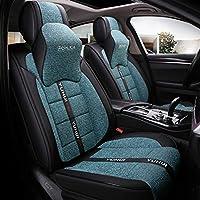 特別な革カーシートカバーファッションスタイリングフルセット自動車シートクッションプロテクターフィットほとんどのブランド車用5シーター (色 : A)