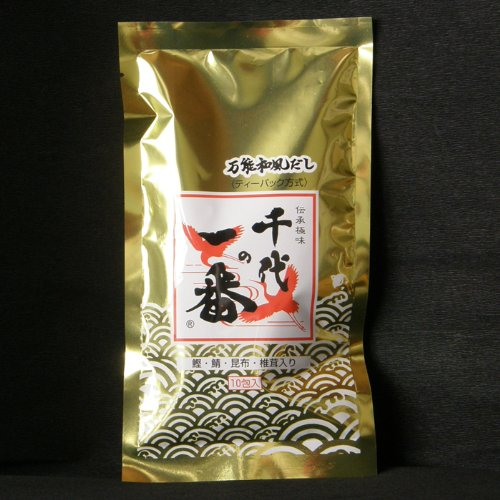 【千代の一番】ゴールド 超高級・和風だし 10包入(8.8g x 10)