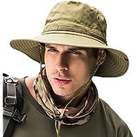サファリハット メンズ レディース 帽子 つば広 軽薄 通気性抜群 日除け 紫外線対策 uvカット 折りたたみ あご紐付き アウトドア 釣り ハイキング 登山 男女兼用