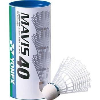 ヨネックス(YONEX) バドミントン シャトル メイビス40P (ナイロン+合成コルク) 3個入り MIDDLE(適正温度12~23℃) M-40BP