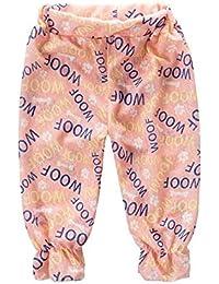 [かわいいポウ] 屋外 パンツ 赤ちゃん ハレムパンツ ブルマー キッズ サマー リネン パンツ 九分丈パンツ