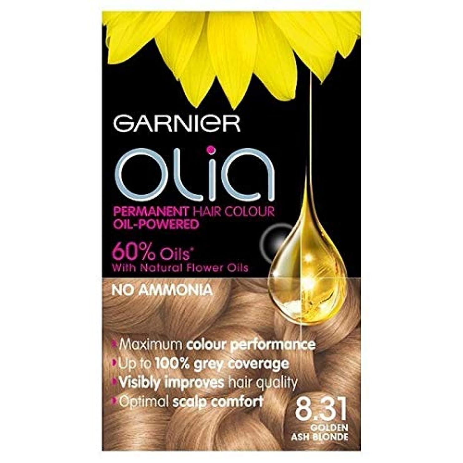 効能支出アピール[Garnier ] 永久染毛剤黄金の灰Oliaガルニエブロンド8.31 - Garnier Olia Permanent Hair Dye Golden Ash Blonde 8.31 [並行輸入品]