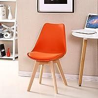シンプルなレトロ会議の椅子は、椅子を交渉するソリッドウッドチェアフィートレストランチェアクリエイティブ商業プラスチック製の椅子背もたれラウンジチェアコンピュータチェアサイズ:37 * 87センチメートル (色 : H h)