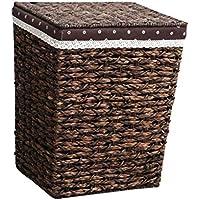 ランドリーバスケット織物収納バスケット、取り外し可能な布地