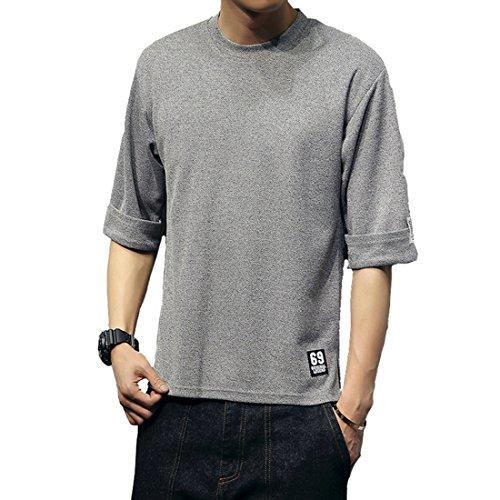 メンズ カットソー ファッション 五分袖 Tシャツ 夏季対応 トップス