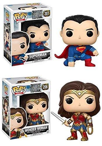Funko ファンコ POP! Justice League ジャスティスリーグ: Superman スーパーマン + Wonder Woman ワンダーウーマン ? DC Vinyl ビニール Figure フィギュア Set NEW