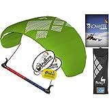 hq4 Fluxx 1.8 MトレーナーKite TR Plus Snowkiting DVDバンドル( 4 Items ) Includes How to Snowkite Instructional DVD + WindBone Kiteライフスタイルデカール+ WindBoneキーチェーン:雪Kite Foil Traction