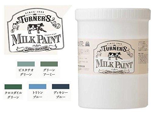 ターナー色彩 水性天然由来ペイント ミルクペイント 1.2Lボトル入り 寒色系 ■5種類の内「40・ピスタチオグリーン」を1点のみです
