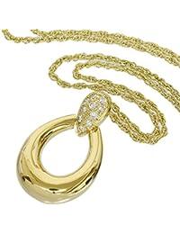 (ミキモト)MIKIMOTO ダイヤ デザイン ネックレス 0.14ct K18YG 中古