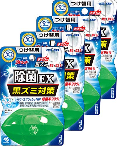 液体ブルーレットおくだけ除菌EX トイレタンク芳香洗浄剤 詰め替え用 パワースプラッシュ 70ml×4個