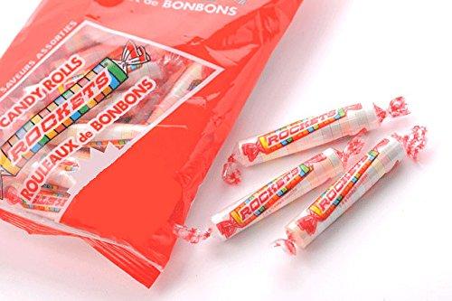 ロケッツ カナダお土産 キャンディロール(ラムネ菓子) 135g 3袋