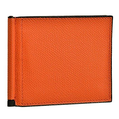 Valextra(ヴァレクストラ) 財布 メンズ グレインレザー 2つ折り財布 オレンジ V0L80-028-00ARRD [並行輸入品]