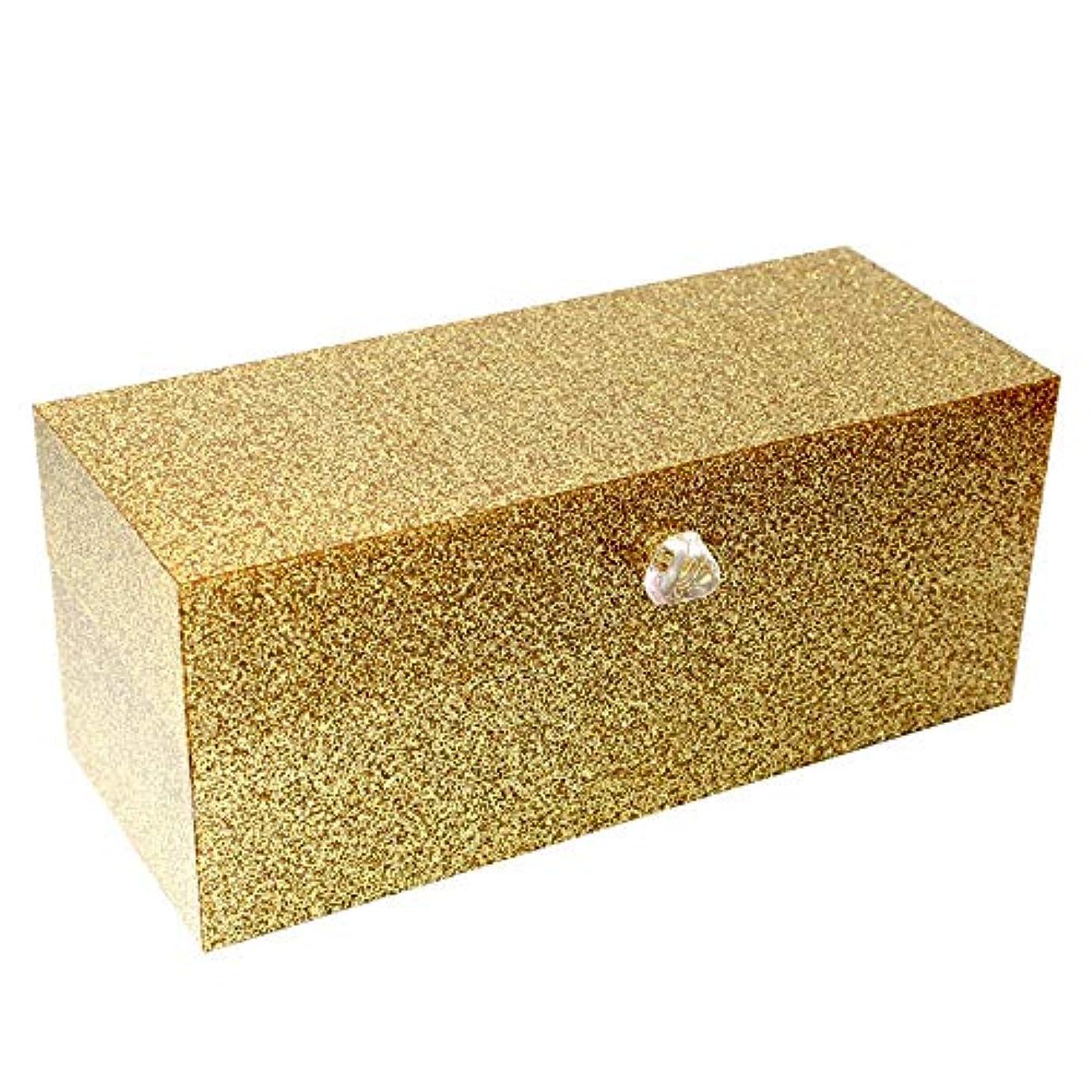 シャーロックホームズ囚人高く整理簡単 口紅のアクリルの付属品を収納するための24のコンパートメントが付いている簡単な構造の貯蔵ふたが付いているオルガナイザー(金) (Color : Gold, Size : 23*9.5*9.2CM)