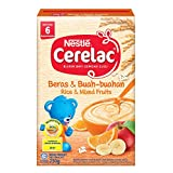 Nestlé Cerelac Baby Food, Rice and Mixed Fruits, 250g