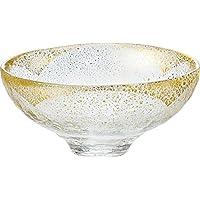 東洋佐々木ガラス 大鉢 クリア 約φ14.2×6.3cm 金箔鉢 日本製  43220G