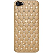 Amzer AMZ94728 Diamond Lattice Snap On Shell Case Cover For Apple iPhone 5, iPhone 5S, iPhone SE (Fits All Carriers) - Khaki