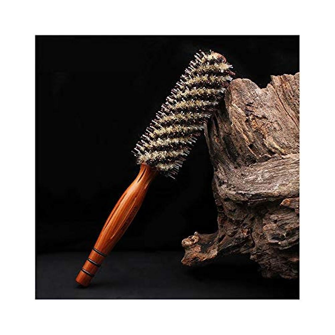 放棄する影のある吐くWASAIO ヘアブラシは、スタイリングのための丸い反静的なもつれをなくす (サイズ : L)