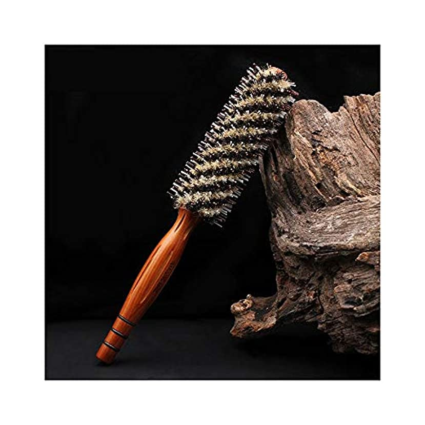 微妙勝利した練習したZYDP 巻き毛の櫛の理髪のカーリングブラシの帯電防止 (サイズ : S)