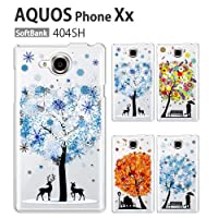 AQUOS Xx−Y 404SH ケース 保護フィルム 付き docomo au softbank AQUOS Xx−Y 404SH カバー スマホカバー AQUOS Xx−Y 404SH 携帯ケース 携帯カバー おしゃれ デコ 耐衝撃 スマホケース フィルム AQUOS Xx−Y 404SH snowtree(Type3)