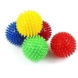 KaLaiXing® スパイキー・マッサージ・ボール、ハード・ストレス・ボール8.0センチフィットネス・スポーツ・エクササイズ用。ヨガ、ジム、フィットネス、スポーツ-5 color