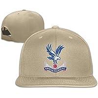 オス/メスUEFA Champions LeagueクリスタルPalace Fcロゴコットンフラットスナップバック野球キャップ調整可能メッシュ帽子野球キャップホワイトフリーサイズ