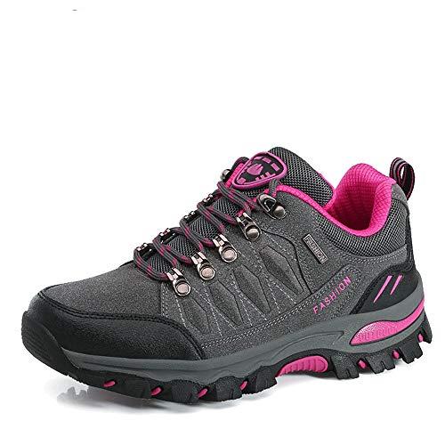c662684e746e23 [SAINIMO] アウトドア キャンプ シューズハイキングシューズ レディースメンズ トレッキング 登山靴 通気性 スエード