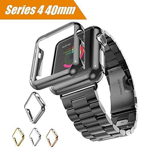 Maxku Apple Watch Series 4 ケース 40mm ケース 高品質PC メーキ加工 耐衝撃性 脱着簡単 超薄 アップル ウォッチ シリーズ4 40mm カバー 4色選択可能 (ブラック)