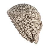 (knit beret)ざっくり編み ニット ベレー帽 シンプル 無地 最新秋冬 レディース 可愛い 小顔 ふわふわ あったか ゆったり ニット帽子 ベージュ