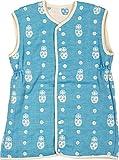 エムール マトリョーシカ柄 6重織ガーゼ 2wayスリーパー 日本製 ターコイズブルー [Baby Product]