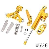 Beautyladays バイク用 CNC アルミ製 ステアリングダンパー スタビライザー ブラケット付属 Kawasaki ZZR 1400 ZX-14R 2006-2012