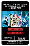 Best パワーシャワー - Custom Birthday Party Invitation - Power Rangers, Personalised Review