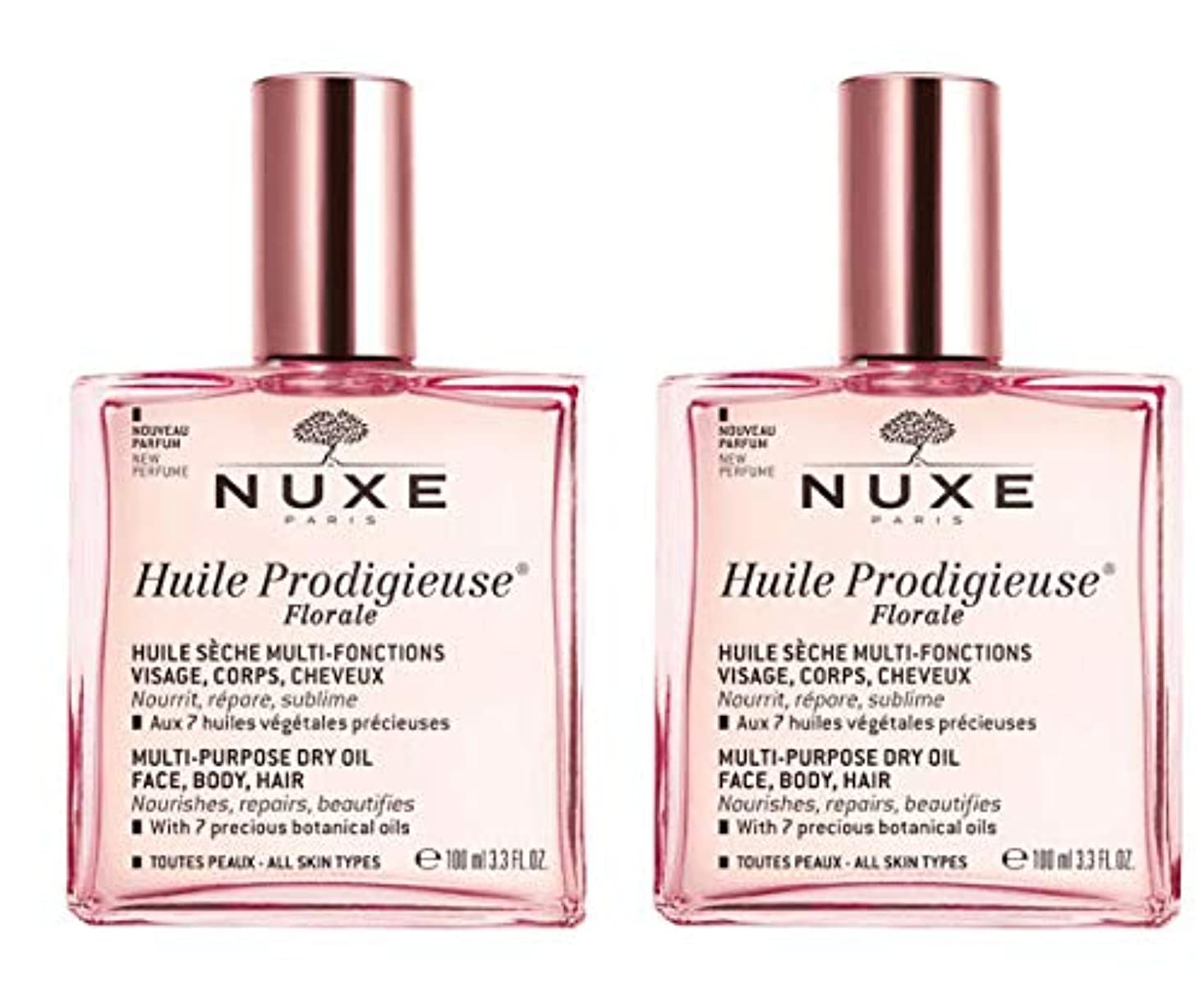 大混乱約設定コンサルタントニュクス NUXE プロディジュー フローラルオイル 100ml 2本セット 花の香りと共に新発売 海外直送品