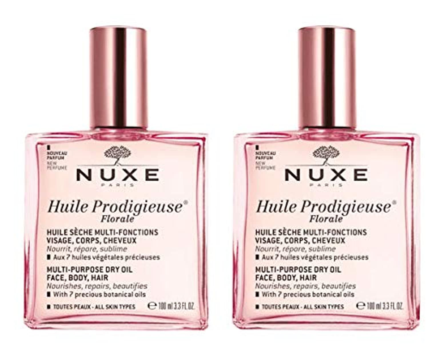 電話化学者必要としているニュクス NUXE プロディジュー フローラルオイル 100ml 2本セット 花の香りと共に新発売 海外直送品