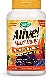アライブ・マルチビタミン 180錠  鉄分無添加  Alive! Max3 Daily Adult Multivitamin, No Iron Added, 180 Tablets 「並行輸入品」
