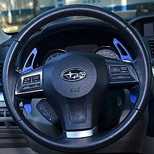 SUBARU パドルシフトカバー スバル ブルー  全車種 レヴォーグ アウトバック フォーレスター インプレッサ XV S4