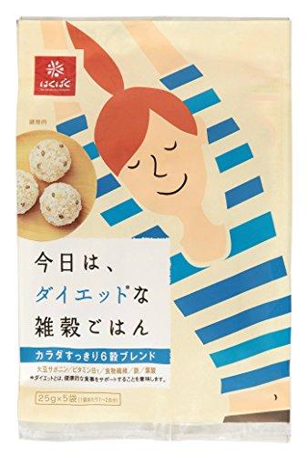 今日は、ダイエットな雑穀ごはん(25g×5P)×6袋
