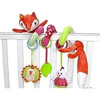 ancaixinレッドフォックスRattleスパイラルおもちゃfor赤ちゃん幼児ベビーカー装飾