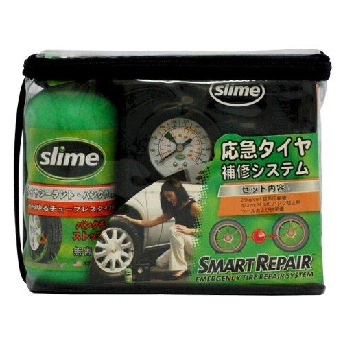 もしもの時も簡単パンク修理!GM社純正採用 タイヤがダメにならず、女性でも簡単SLIME【スライム】パンク修理キット!コンプレッサー付属【パンク修理】