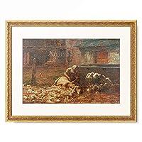 ジョヴァンニ・セガンティーニ Giovanni Segantini 「Il reddito del pastore (Das Einkommen des Hirten), 1886.」 額装アート作品