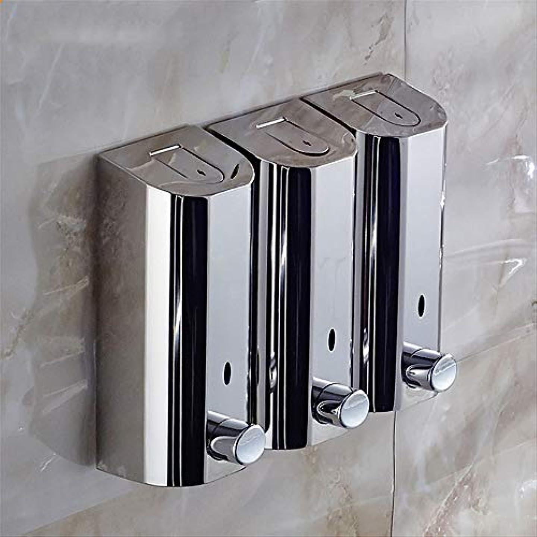 会社ポール増幅する泡石鹸ディスペンサー Hand Sanitizer Hotel Soap Liquid Bottle壁に取り付けられたシャワージェルボックスは、屋内ビジネスや公共スペースにシームレスに溶け込み、強化できます 自動石鹸ディスペンサー...