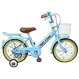 自転車 子供用 16インチ 男の子 女の子 子ども 幼児 幼児車 ジュニア キッズバイク 補助輪 かわいい おすすめ 【AJ-07】 【スカイブルー】 記念日 誕生日 プレゼントに 自転車デビューならこれ!