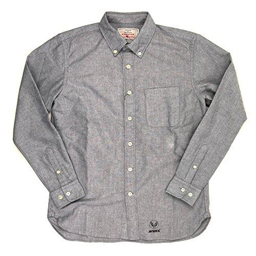 (アビレックス) AVIREX アヴィレックス オックスフォード ボタンダウンシャツ XL 87_Navy_Blue 6155111