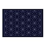 刺し子のランチョンマットL-2003(藍) 麻の葉 【枚】