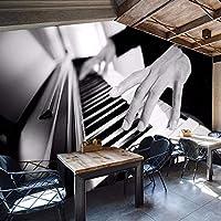 Wuyyii 3D写真の壁紙カスタムレトロ人格スタイルレジャーバーKtvヨーロッパとアメリカのソファの背景の壁紙ピアノMural200X140Cm