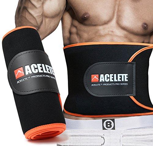 ACEFITS シェイプアップベルト 加圧 発汗ダイエットベルト フリーサイズ 男女兼用