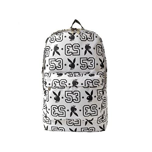 (プレイボーイ) PLAYBOY バッグ BAG ラビットヘッド モノグラム リュックサック バックパック ポリエステル ブランド 並行輸入品 WH×BK