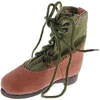 Blesiya 12インチ アクションフィギュアボディに対応  レザー+布+プラスチック製  素敵  1/6スケール 軍用ブーツ
